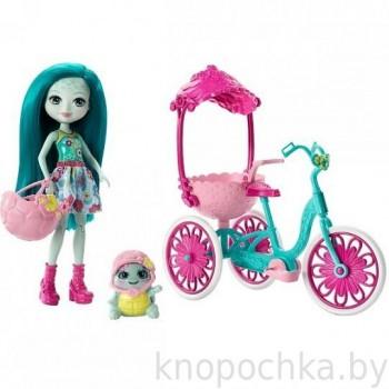 Набор Enchantimals Прогулка на велосипеде с куклой Тайли Черепашка