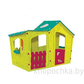 Детский домик Keter Волшебная вилла (Зелено-бирюзовый)