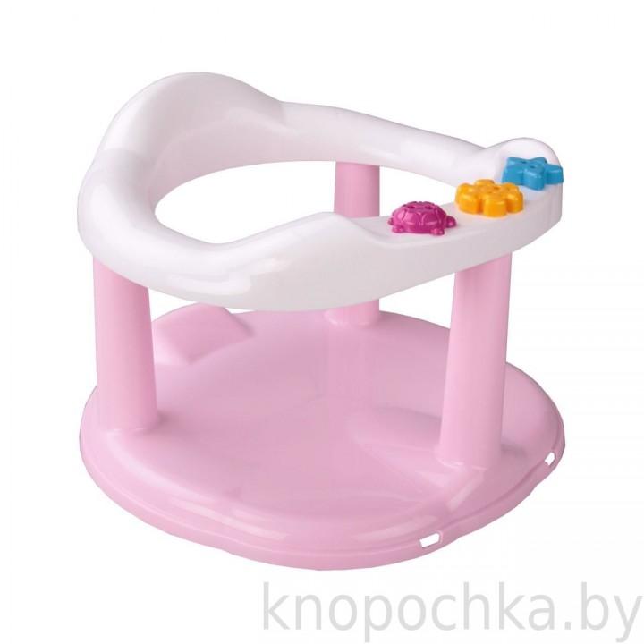 Сиденье для купания на присосках розовое