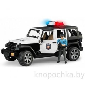 Игрушка Брудер Внедорожник Jeep Wrangler Unlimited Rubicon Полиция с фигуркой Bruder 02526