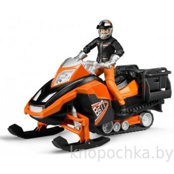 Игрушка Брудер Снегоход с фигуркой водителя Bruder 63101