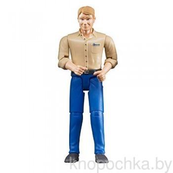 Фигурка мужчины голубые джинсы Bruder 60006