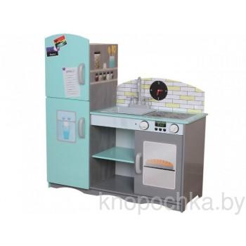Деревянная детская кухня с холодильником Eco Toys