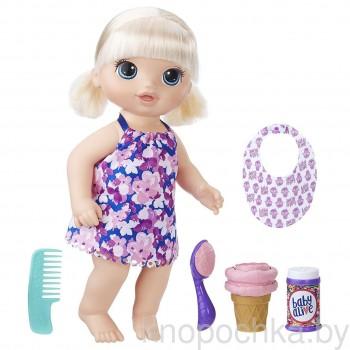 Кукла Baby Alive Малышка с мороженым Hasbro