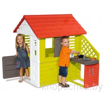Детский домик с кухней Smoby 810702