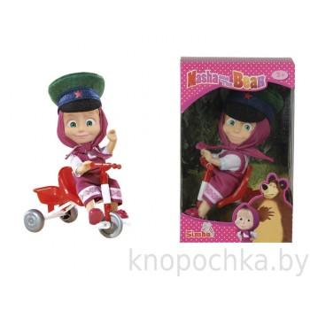Игрушка Маша и Медведь Маша в фуражке с велосипедом Simba