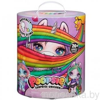 Единорожка Poopsie Unicorn Surprise со слаймом (фиолетовая коробка)