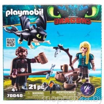 Playmobil 70040 Драконы 3: Иккинг и Астрид с малышом драконом