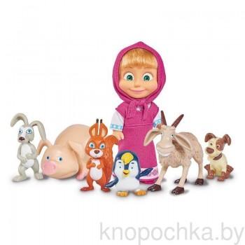 Кукла Маша с животными Маша и Медведь Simba