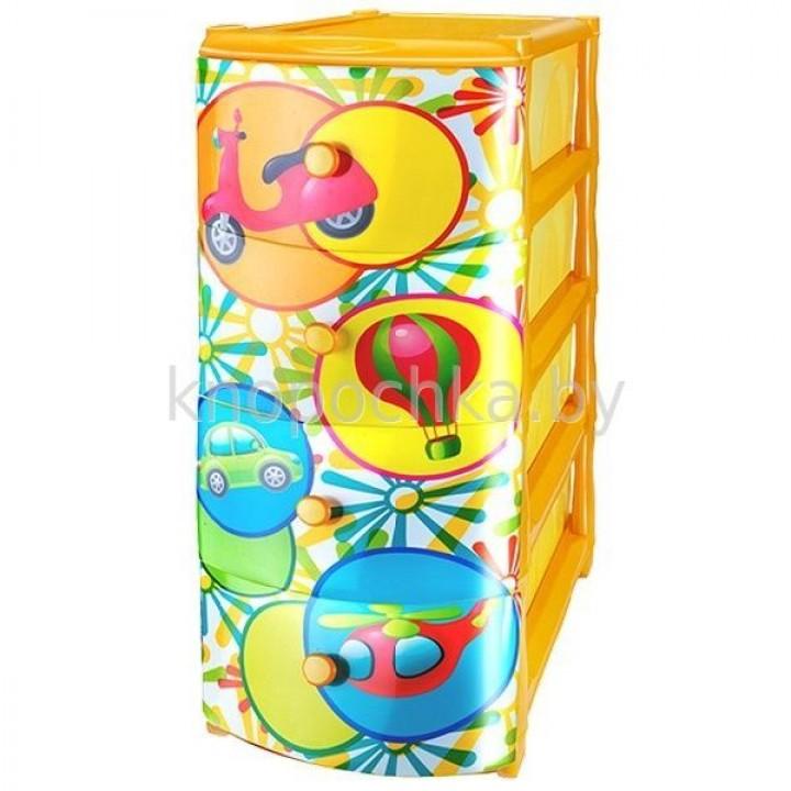 Комод детский пластиковый Машинки ЭльфПласт