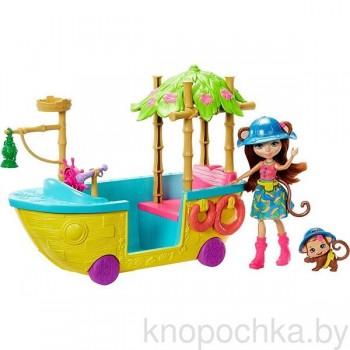 Набор Энчантималс Джунгли-лодка с куклой Мэрит