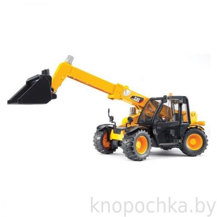 Погрузчик колёсный CAT Telehandler с ковшом Bruder (Брудер) 02141
