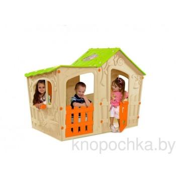 Детский домик Keter Волшебная вилла (Бежево-оранжевый)