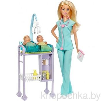 Игровой набор кукла Барби Врач с младенцами