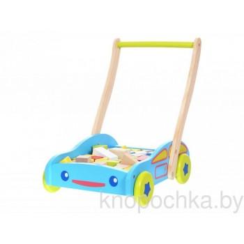 Набор Eco Toys Ходунки + кубики