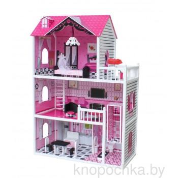 Кукольный домик с лифтом Roza Wooden Toys