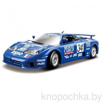 Коллекционная машинка Race Bugatti EB110 Super Sport (1994 Race) Bburago 1:24