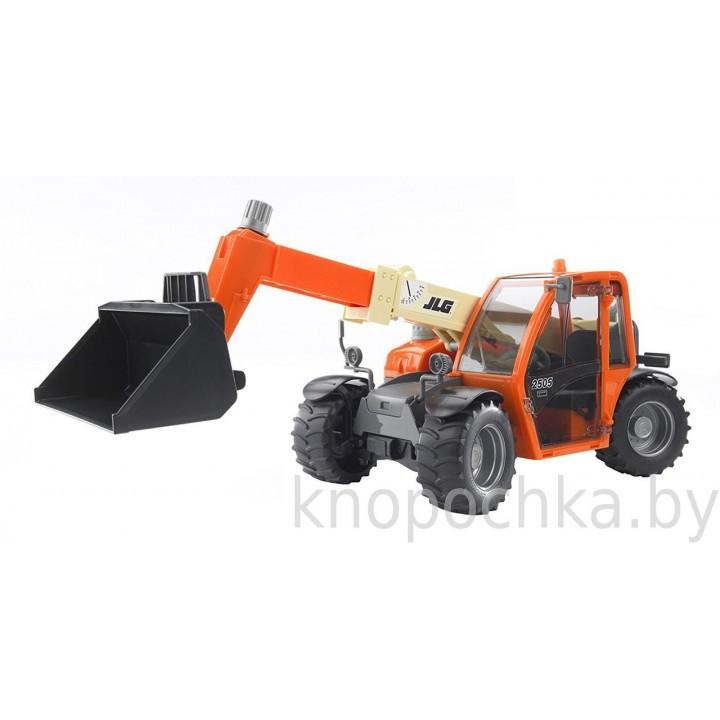 Погрузчик колёсный JLG 2505 Telehandler с телескопическим ковшом Bruder 02140