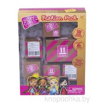 Игровой набор из 6 посылок с сюрпризом для кукол Boxy Girls
