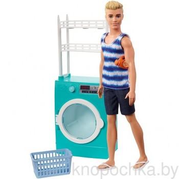 Кукла Barbie Кен в прачечной FYK52