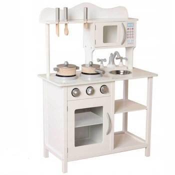Деревянная детская кухня Eco Toys TK040 белая