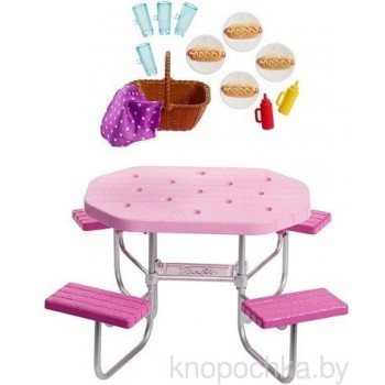 Набор мебели Барби Стол для пикника FXG40