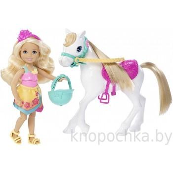 Кукла Barbie Челси и пони DLY34