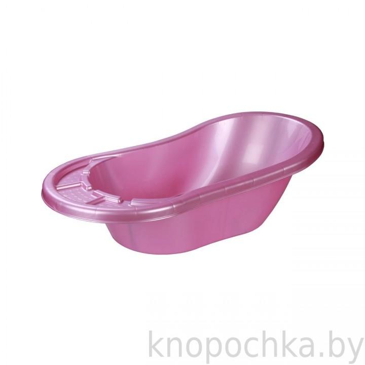 Ванночка для новорожденных Карапуз розовая