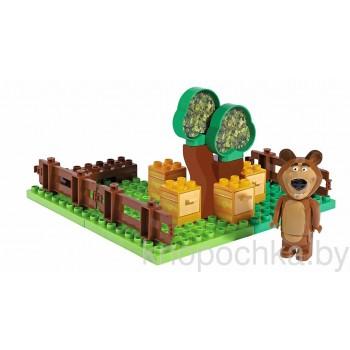 Конструктор BIG Маша и Медведь, пчелиная ферма Мишки (21 деталь)