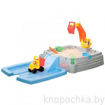 Песочница с крышкой Песчаный карьер Little Tikes 624520