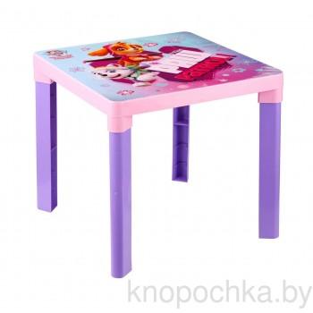 Пластиковый детский столик Щенячий патруль для девочек