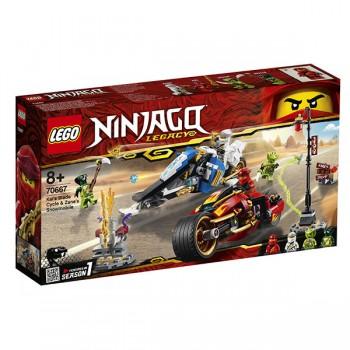 Lego Ninjago 70667 Мотоцикл-клинок Кая и снегоход Зейна