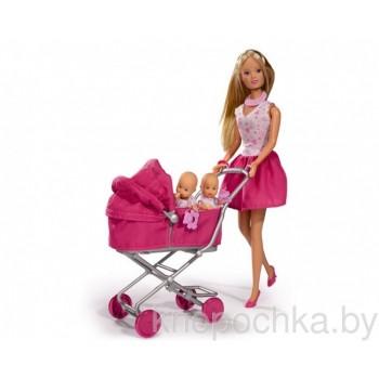 Кукла Штеффи с коляской и малышами Simba