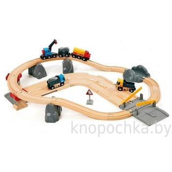 Детская железная дорога с автодорогой и переездом BRIO 33210