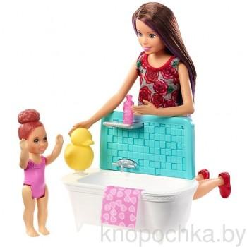 Набор Barbie Няня Скиппер с малышкой FXH05