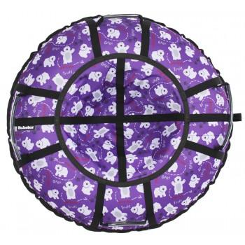Тюбинг Hubster Люкс Pro Мишки фиолетовые (100см)