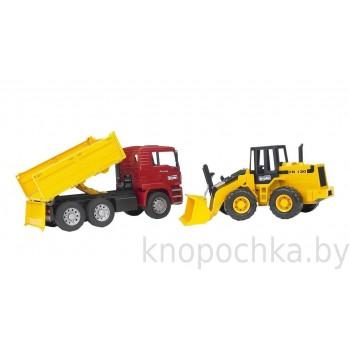 Игрушка Брудер Самосвал MAN с колёсным бульдозером FR Bruder 02752