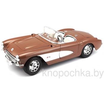 Модель автомобиля Chevrolet Corvette 1957 1:18 Maisto 31139
