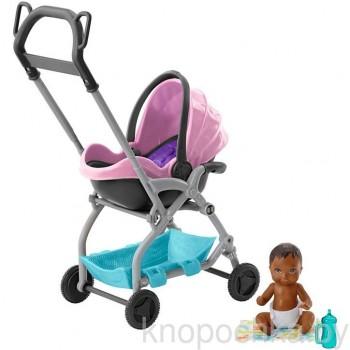 Набор Barbie Няня Коляска с малышом FXG95