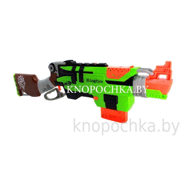 Бластер NERF Зомби Страйк Слингфайр A6563 Hasbro
