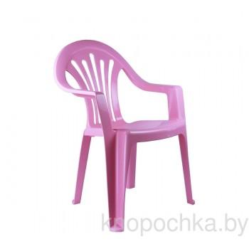 Пластиковый детский стульчик розовый