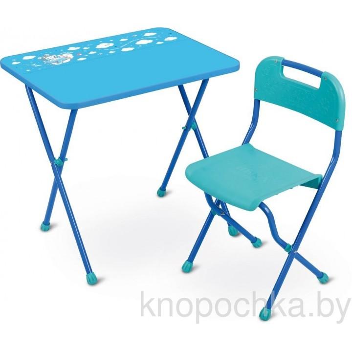 Детский стол и стул Ника КА2 Алина голубой