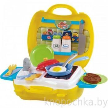 Детская мини кухня в чемодане Playgo 2780 (22 предмета)