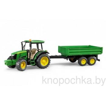 Игрушка Bruder Трактор John Deere 5115M с прицепом 02108