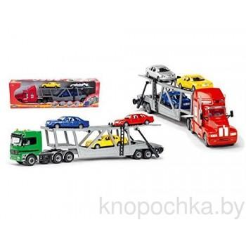 Автовоз Dickie с тремя машинками, 59 см