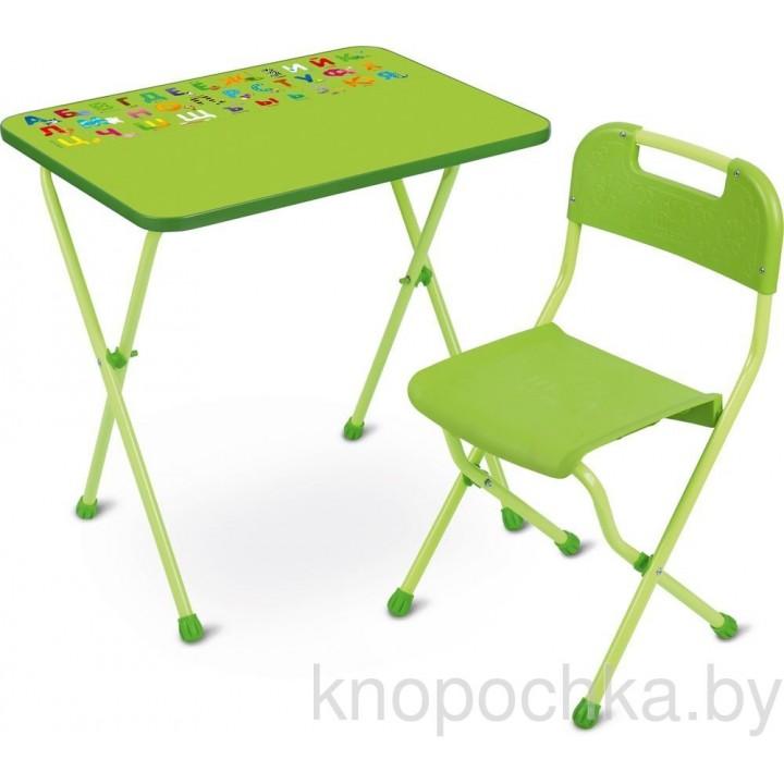 Детский стол и стул Ника КА2 Алина салатовый