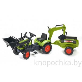 Педальный трактор с прицепом Falk Claas Arion 2040N