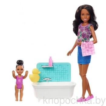 Набор Barbie Няня Скиппер с малышкой FXH06