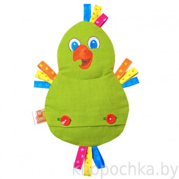 Игрушка грелка с вишневыми косточками Попугай