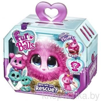 Пушистик-потеряшка Розовый Fur Balls